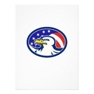 A águia americana americana Stars a bandeira das l Convite Personalizado