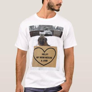 A ajuda do german shepherd do t-shirt minha mamã