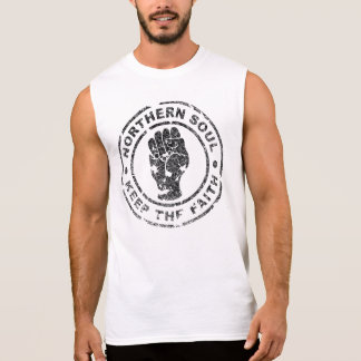 A alma do norte mantem a fé (o vintage/afligido) camisa sem mangas