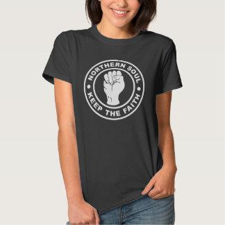 A alma do norte mantem a fé t-shirt
