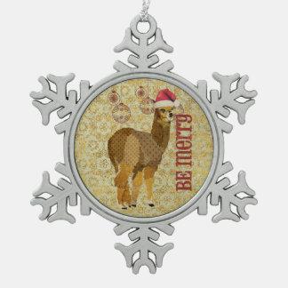 A alpaca do ouro seja ornamento alegre