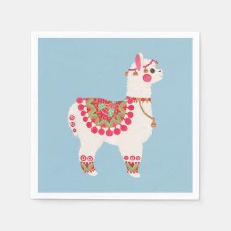 A alpaca guardanapo de papel