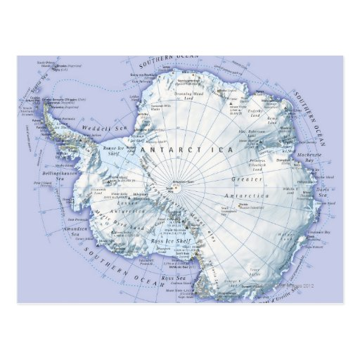 A Antártica Cartao Postal