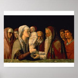 A apresentação de Jesus no templo Poster