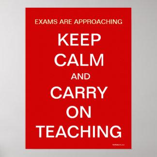 A aproximação dos exames mantem o poster de ensino pôster