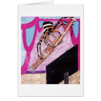 A aranha Luigi do tecelão da esfera joga o fagote Cartão Comemorativo