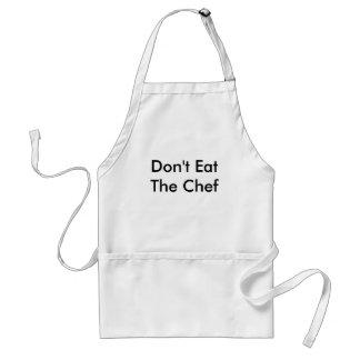 A armadura do cozinheiro chefe avental
