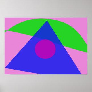 A arte abstracta geométrica a mais simples posteres
