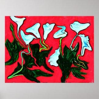 A arte abstracta moderna floresce o poster