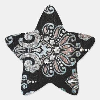 A arte bonita do design floresce a cor floral das adesivo estrela