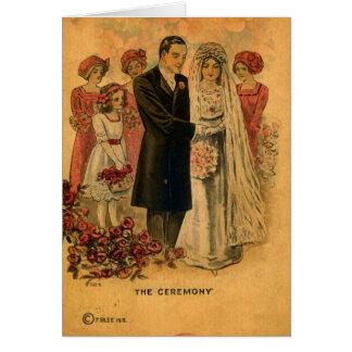 A arte de Digitas da cerimónia de casamento Cartão Comemorativo