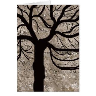 A árvore cartão
