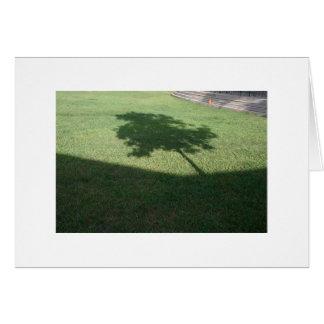 A árvore cartão comemorativo