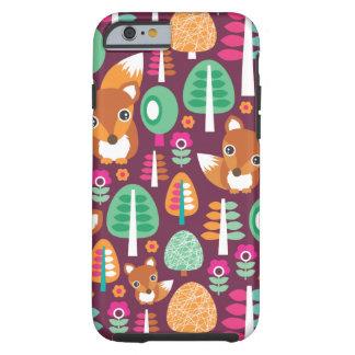 A árvore colorida retro bonito da raposa caçoa o capa tough para iPhone 6