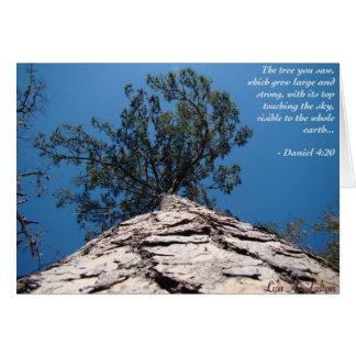A árvore de Daniel Cartão De Nota