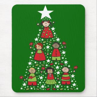 A árvore de Natal caçoa o feriado Mousepad