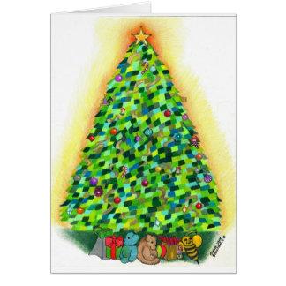 A árvore de Natal Cartão Comemorativo