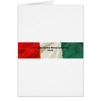 A associação das mulheres americanas italianas cartão comemorativo