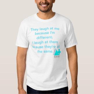 A+ Autismo mais o T BRITÂNICO das citações do T-shirts