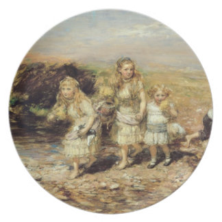 A aventura, 1883 (óleo em canvas) pratos