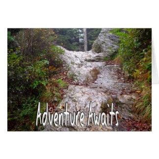 A aventura espera apenas sobre a fuga cartão