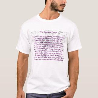 A avestruz obstinado, camisa animal da rima    …