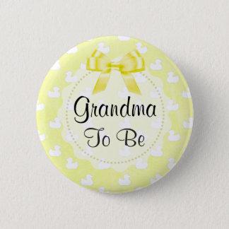 A avó a ser arco e bebê amarelos Ducks o botão Bóton Redondo 5.08cm