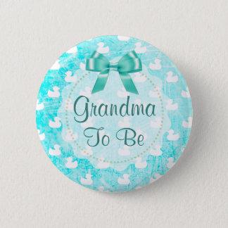 A avó a ser arco e bebê da cerceta Ducks o botão Bóton Redondo 5.08cm