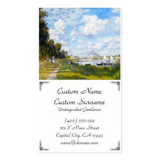 A bacia em Argenteuil Claude Monet Cartão De Visita