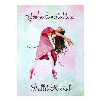 A bailarina cor-de-rosa convite 13.97 x 19.05cm