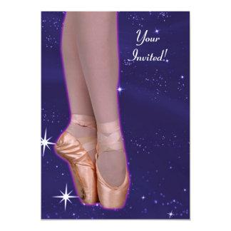 A bailarina dança entre as estrelas convite 12.7 x 17.78cm