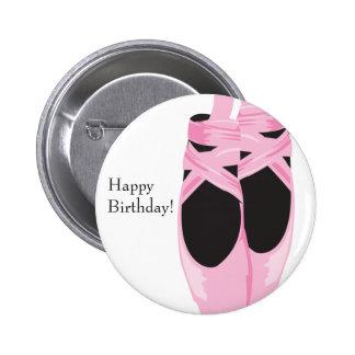 A bailarina do KRW calça o favor do botão do feliz Bóton Redondo 5.08cm