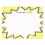 A banda desenhada amarela do pop art inspirou Note Convites