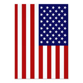 A bandeira americana convite 12.7 x 17.78cm