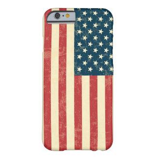 A bandeira americana envelhecida desvaneceu-se capa barely there para iPhone 6