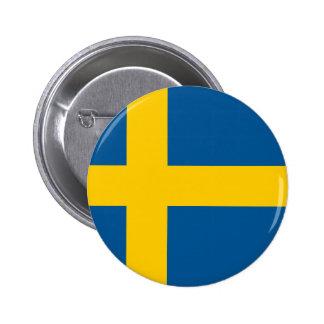 A bandeira da suecia bóton redondo 5.08cm