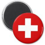 A bandeira da suiça ímã redondo 5.08cm