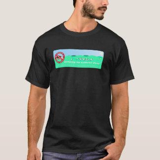 A bandeira de ABCD reduzida no t-shirt preto
