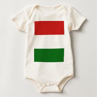 A bandeira de Hungria Macacãozinho Para Bebês