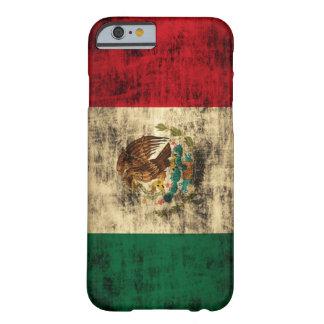 A bandeira de México afligiu a caixa do iPhone 6 Capa Barely There Para iPhone 6