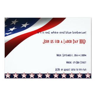 A bandeira dos Estados Unidos moderna embandeira Convite 8.89 X 12.7cm