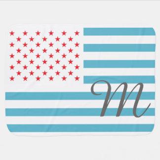 A bandeira dos Estados Unidos personalizou o Cobertores De Bebe