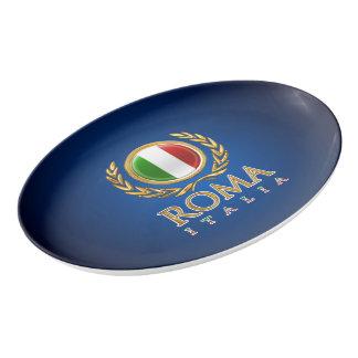 A bandeira italiana travessa de porcelana