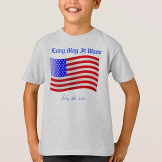 A bandeira patriótica do Dia da Independência Tshirt