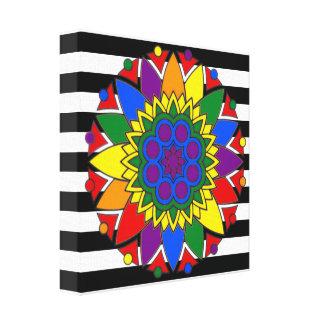A bandeira reta do aliado colore a mandala do impressão em canvas