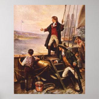 A bandeira star spangled por Percy Moran Impressão