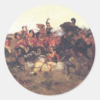 A batalha de sutiãs de Quatre em 1815 Adesivo