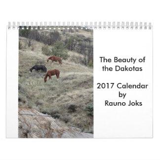 A beleza do calendário de Dakotas 2017