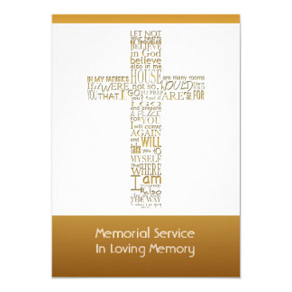 A bíblia dourada Verses a cerimonia comemorativa 2 Convite 12.7 X 17.78cm