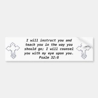 A bíblia Verses o 32:8 inspirado do salmo das cita Adesivo Para Carro